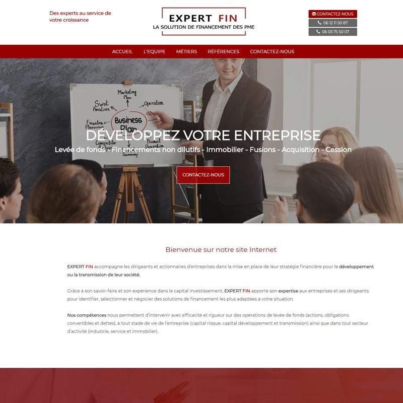 Création d'un site à Montpellier pour des experts en levées de fonds