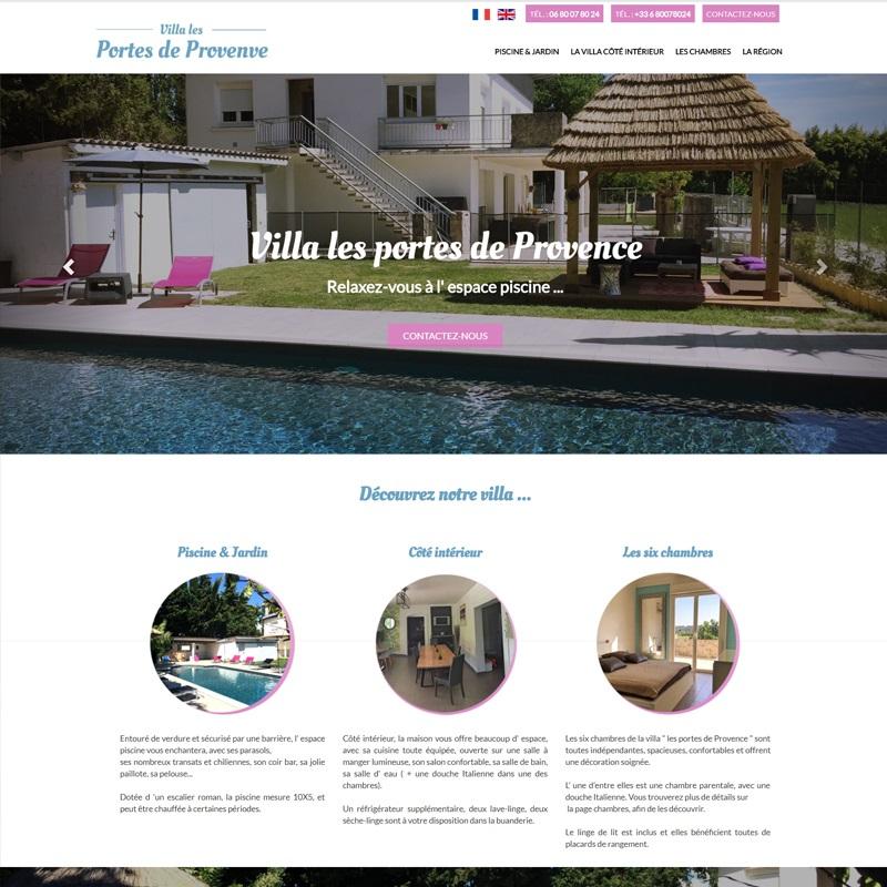 Création d'un site pour une villa à Louer à Ales
