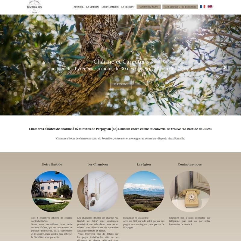 Création d'un site Internet pour des professionnels de l'hébergement à Perpignan (à proximité) - 66
