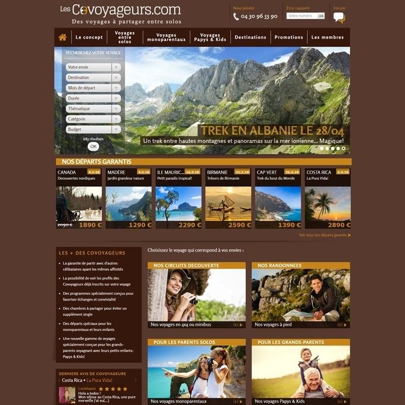 Création de site Internet par des perpignanais pour une agence de voyage en ligne