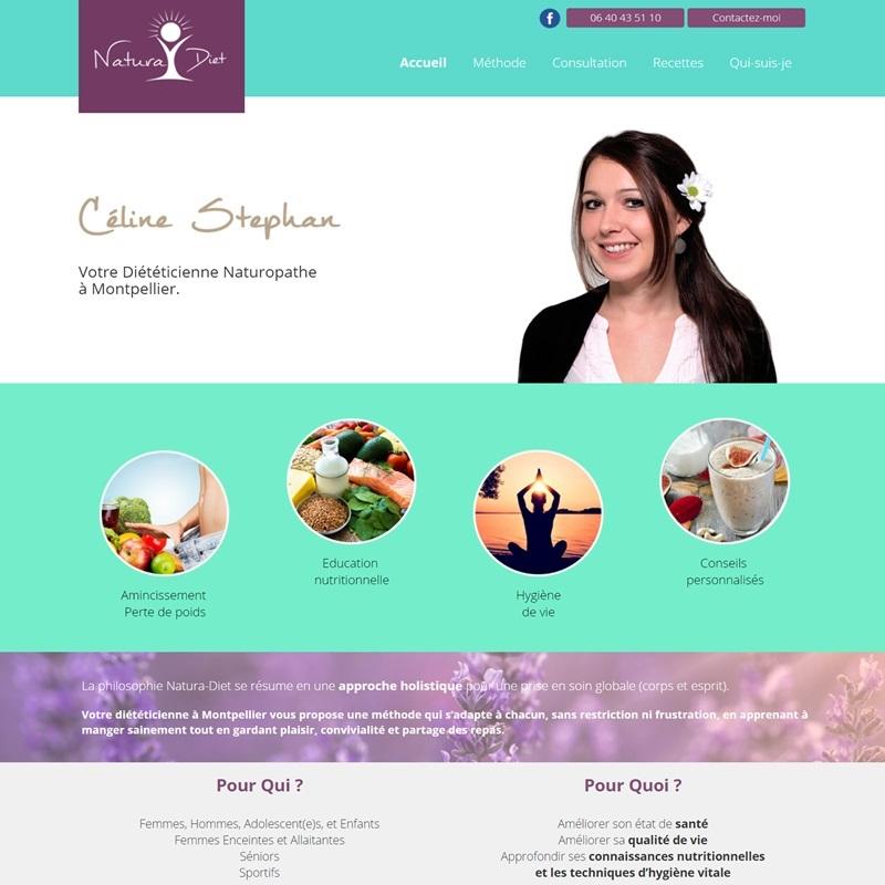 Créateur perpignanais de site Internet - 66 - Site vitrine pour une diététicienne