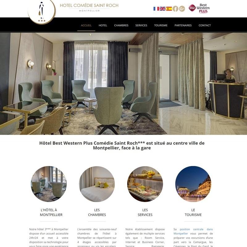 Créateur de site Internet installé à Ponteilla, à proximité de Perpignan - site vitrine pour hôtel