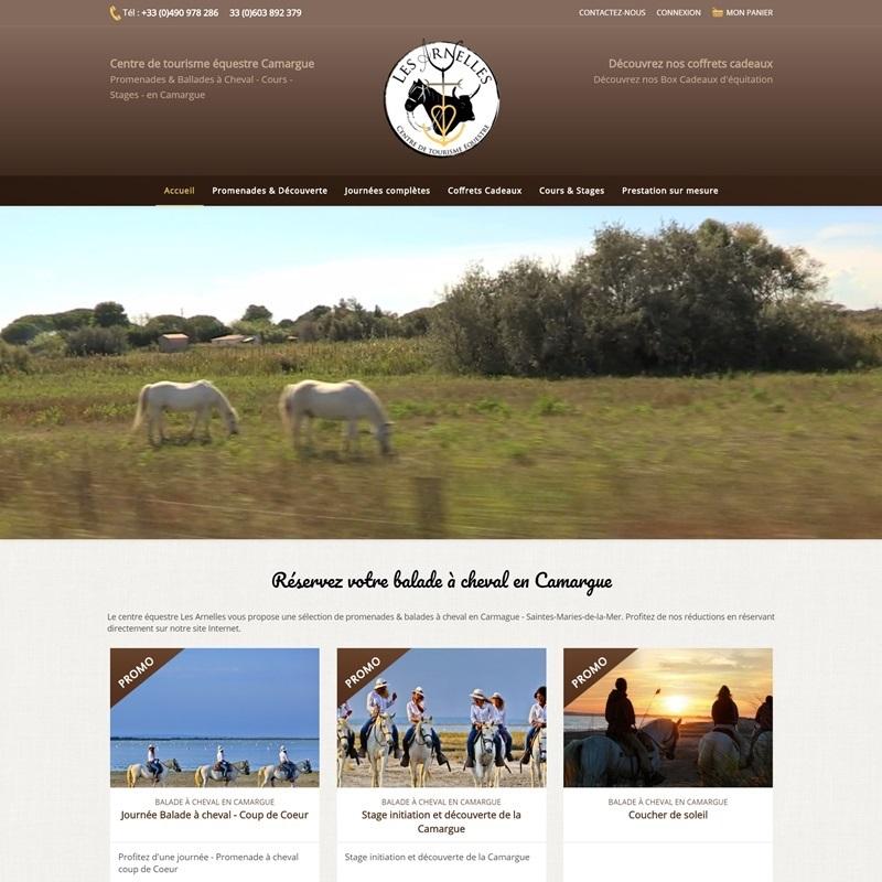 Béziers : Création d'un site pour centre équestre  - site ecommerce