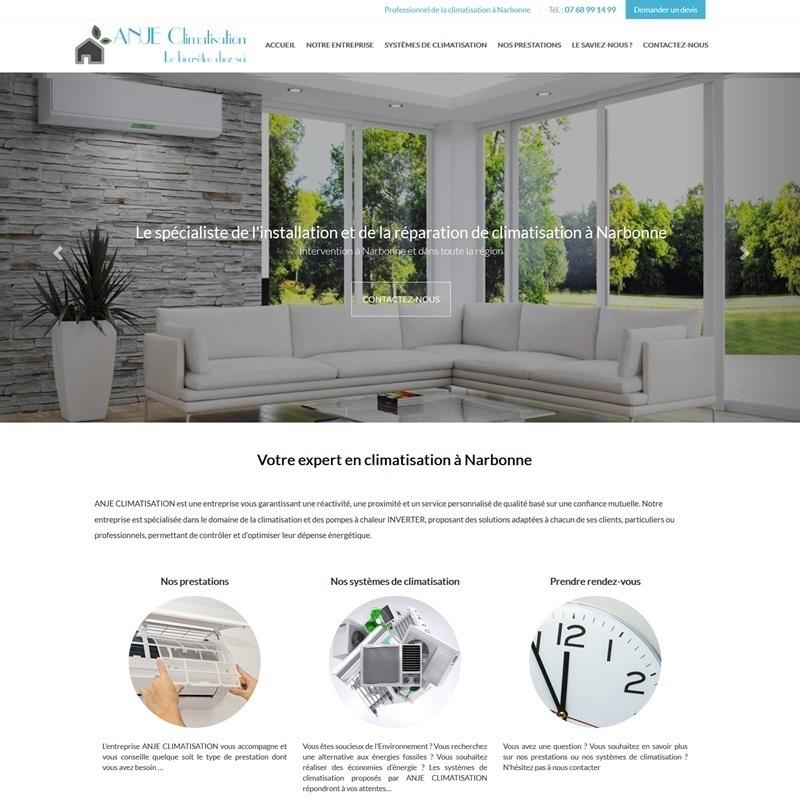 Création d'un site à Béziers pour installateur de climatisation