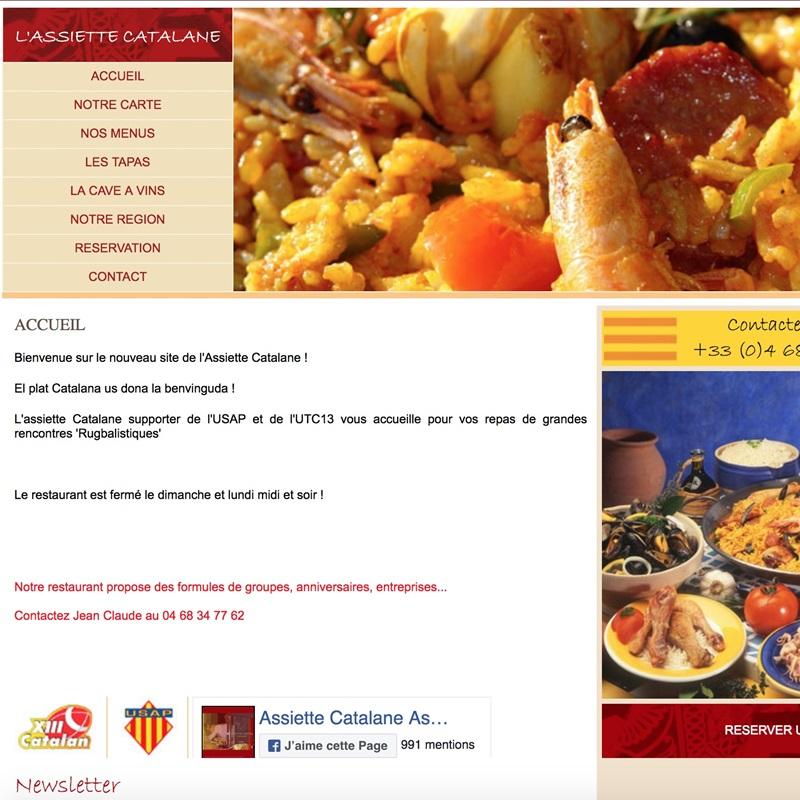 Creation du site pour l'assiette catalane de Perpignan