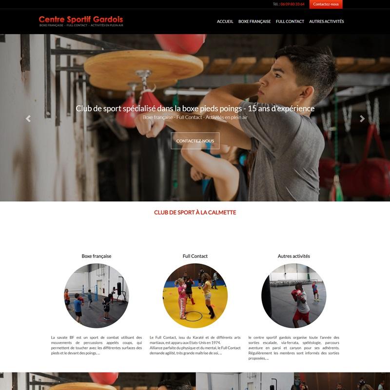 Création d'un site à Montpellier pour un centre sportif