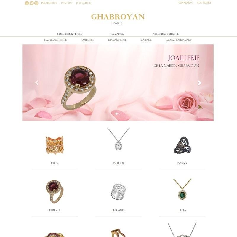 Création de site internet fiable pour une bijouterie