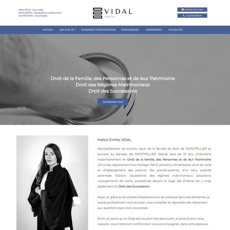 Création du site à Montpellier pour un avocat