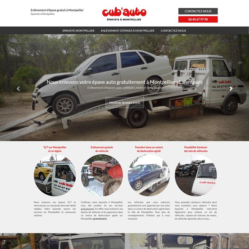 Création d'un site web à Montpellier pour une société de retrait d'épave