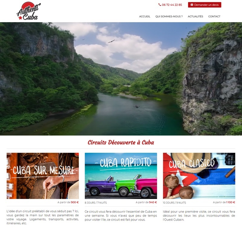 Création d'un site pour agence de voyage - Carcassonne