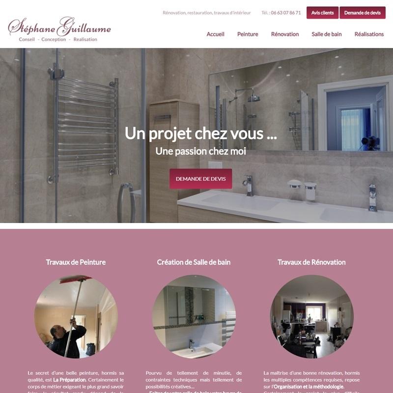 Création d'un site pour rénovateur d'intérieur - Carcassonne