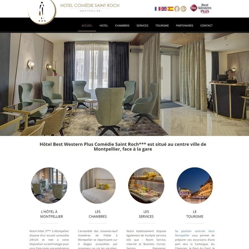 Création d'in site pour un hôtel - Avignon - Vaucluse
