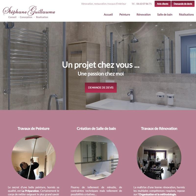 Site vitrine pour un rénovateur d'appartement