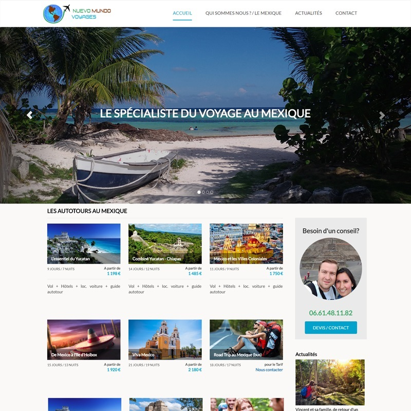 Conception d'un site vitrine pour une agence de voyage