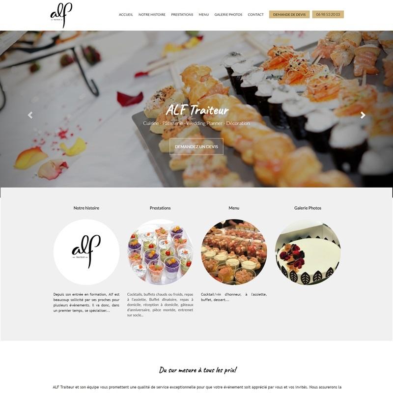 Creation d'un site web de type vitrine pour un traiteur