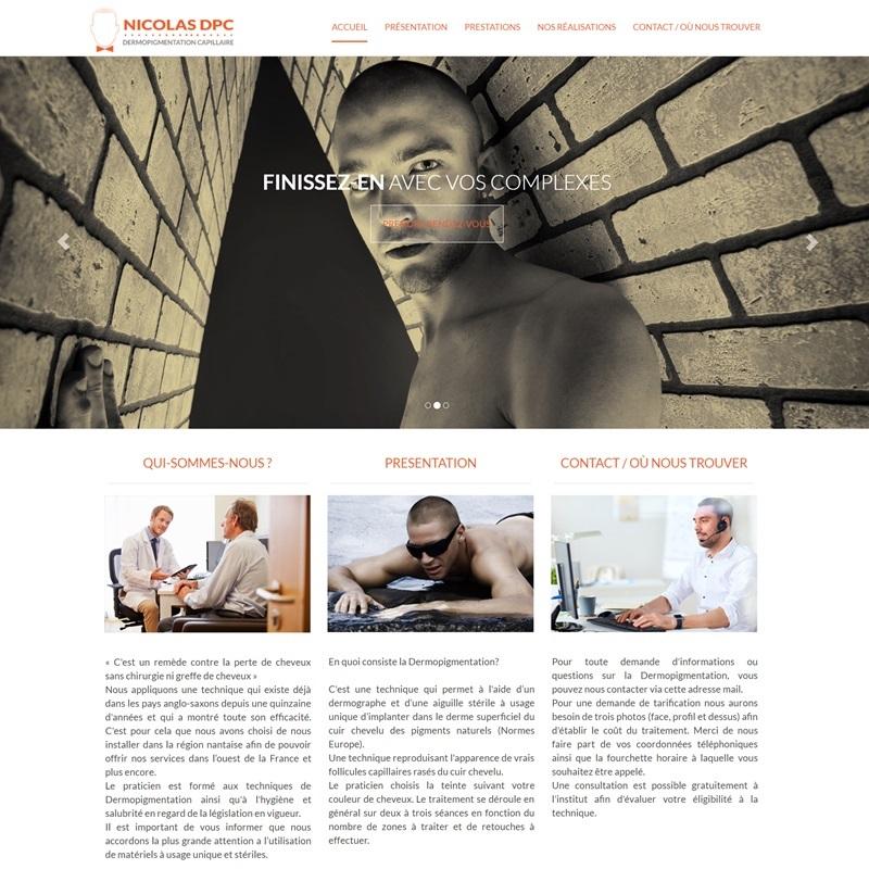 Creation d'un site vitrine pour un professionnel de la dermopigmentation des cheveux