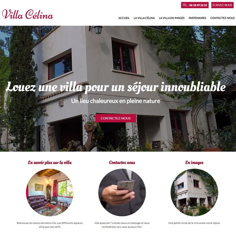 Création d'un site internet vitrine pour une location de villa