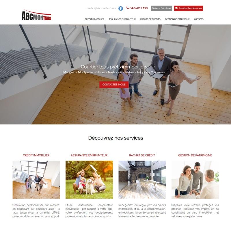 Création d'un site web vitrine pour un courtier immobilier