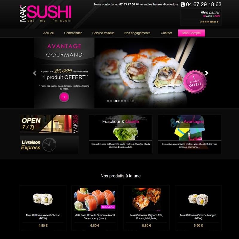 Création d'un site catalogue à Montpellier pour un restaurant