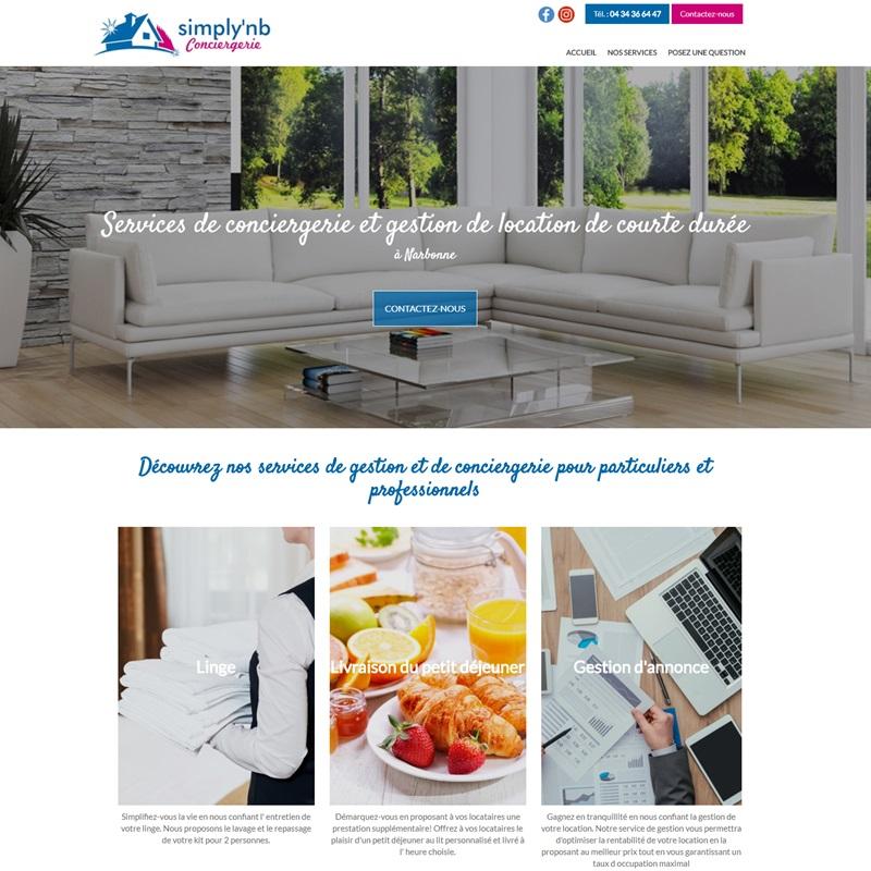 Création d'un site vitrine à Narbonne pour Simply NB